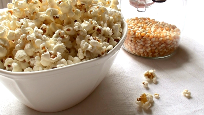 home popped popcorn