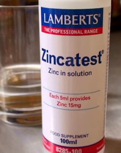 zinc tally test