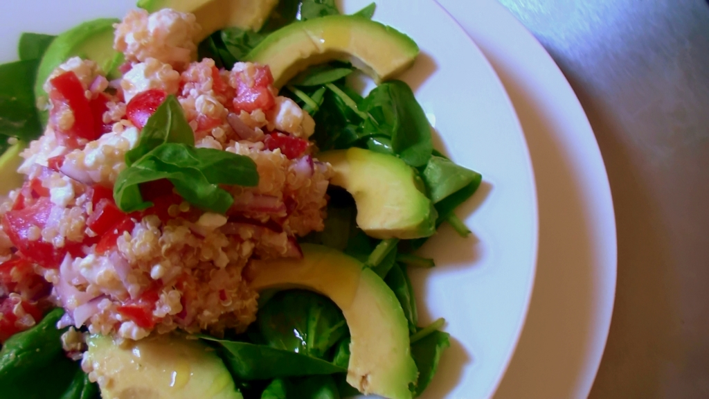 Greek Quinoa and Avocado salad
